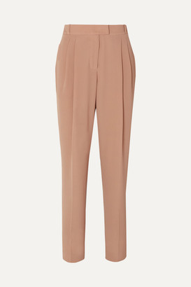 Emilia Wickstead Crepe High-rise Slim-leg Pants - Taupe