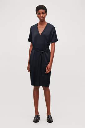 Cos V-NECK DRESS WITH BELT