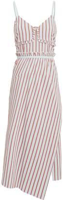 Derek Lam 10 Crosby Striped Ruffle Cami Dress