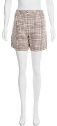 Marc Jacobs Plaid High-Rise Shorts w/ Tags
