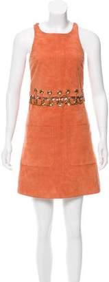 Chloé Embellished Suede Dress
