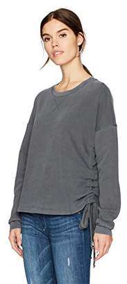 Stateside Women's French Terry Sweatshirt with Side Gather
