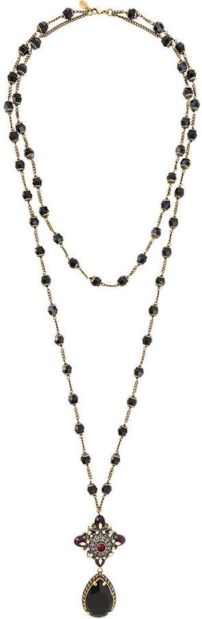 Alexander McQueenAlexander McQueen jewelled pendant necklace