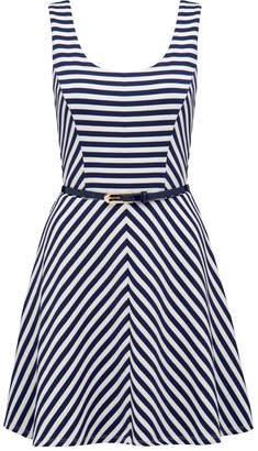 Ciara stripe skater dress