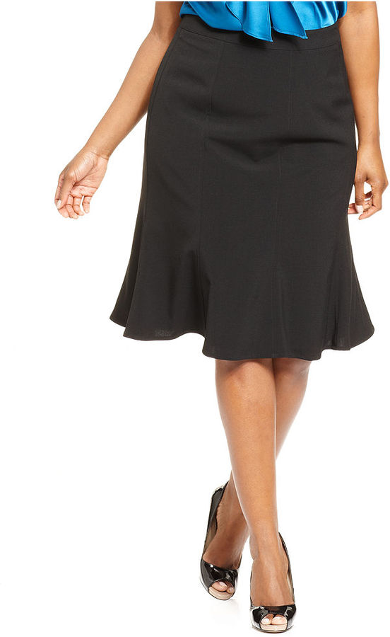 Amy Byer Plus Size Skirt, Flared Flounce
