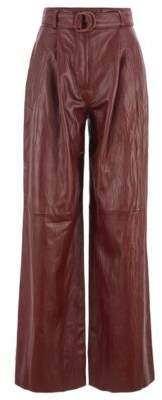 Fashion Show relaxed-fit nappa pants with side stripe