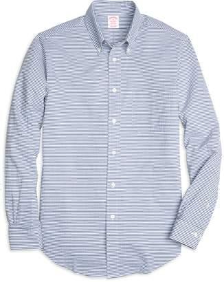 Brooks Brothers Madison Fit Horizontal Stripe Seersucker Sport Shirt