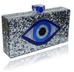 Macy's Milanblocks Evil Eye Lucite Acrylic Box Clutch by The Workshop at