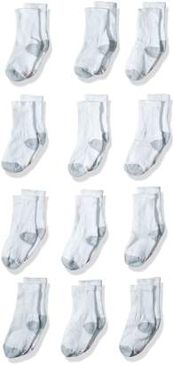 Hanes Big Boy's 12 Pack Crew Socks