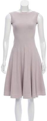 Alaia Pleated Fit and Flare Dress
