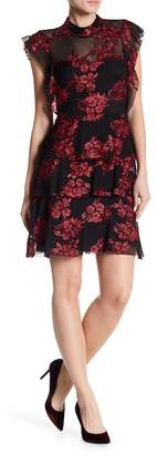 Romeo & Juliet Couture Embroidered Mesh Layer Dress