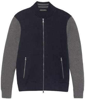 Banana Republic Color-Blocked Sweater Bomber Jacket