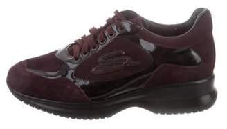 Santoni Suede Low-Top Sneakers w/ Tags