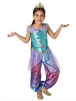Deerfield Jasmine Rainbow Deluxe Costume Size 6-8