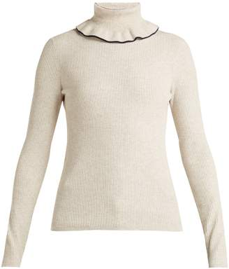 See by Chloe Ruffled roll-neck sweater