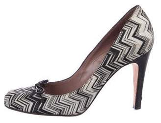 Missoni Stripe High Heel Pumps