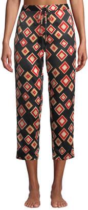Natori Obi Geo-Print Cropped PJ Pants