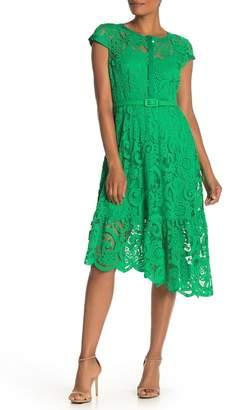 Nanette Lepore NANETTE Cap Sleeve Lace Dress