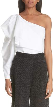 Stella McCartney Ruffle One-Shoulder Blouse