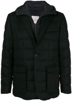 Moncler hooded padded blazer