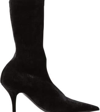 Balenciaga Velvet Knife ankle boots