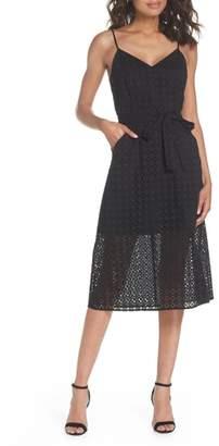 Ali & Jay Shutters Sunsets Cotton Eyelet Midi Dress