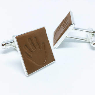 Oliver Twist Designs Personalised Silicon Handprint And Footprint Cufflinks