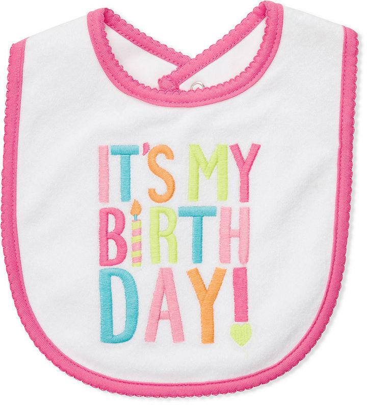 Carter's Baby Bib, Baby Girls It's My Birthday Bib