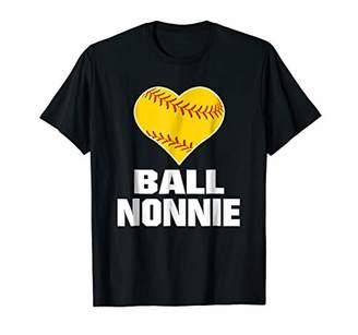Funny Baseball Mom Shirt Ball Nonnie Softball Gifts Women