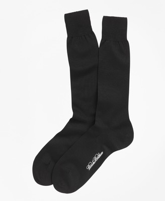 Brooks Brothers Egyptian Cotton Jersey Knit Crew Socks