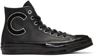 Converse Black Chuck Taylor All Star 70 Wordmark Wool High-Top Sneakers