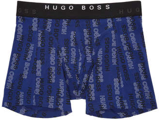 BOSS Two-Pack Black and Blue Printed Boxers