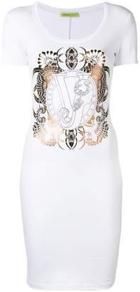 Versace logo fitted mini dress