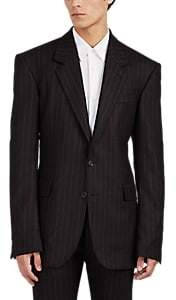 Alexander McQueen Men's Pinstriped Wool Two-Button Sportcoat - Black