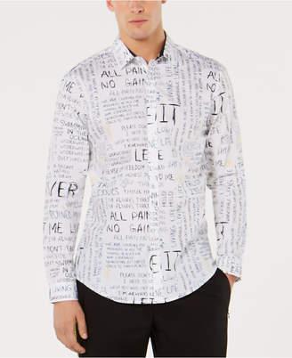 INC International Concepts I.n.c. Men Regular-Fit Scribble-Print Shirt