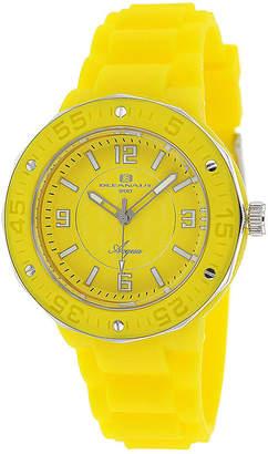 Oceanaut Acqua Womens Yellow Rubber Bracelet Watch