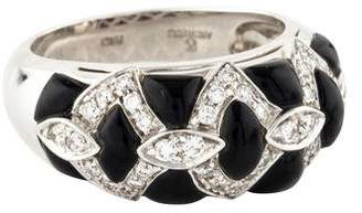 Andreoli 18K Onyx & Diamond Ring