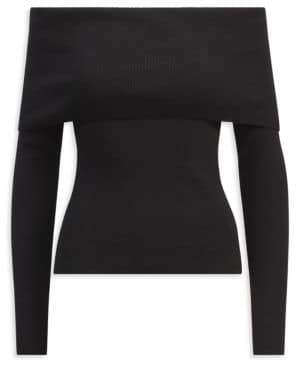 Ralph Lauren Collection Off-The-Shoulder Wool Top