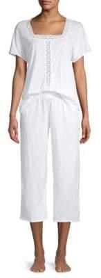 Hanro Crop Cotton Pajama