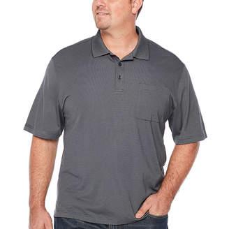 Van Heusen Jacquard Stripe Polo Mens Short Sleeve Polo Shirt Big and Tall