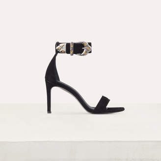 Maje Suede heeled sandals