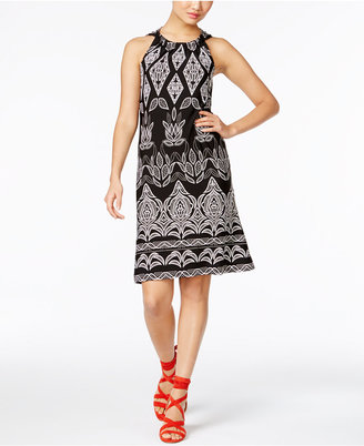 INC International Concepts Printed A-Line Dress, Only at Macy's $79.50 thestylecure.com