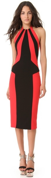 L'Wren Scott Halter Multi Colored Dress