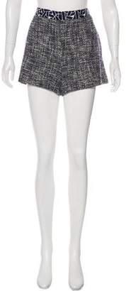 Diane von Furstenberg Zali Tweed Mini Shorts