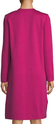 St. John Milano-Knit Side-Slit Topper Jacket