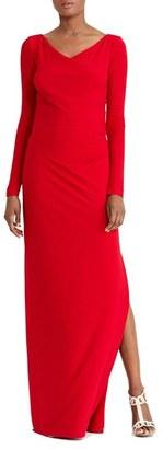 Women's Lauren Ralph Lauren Jersey Column Gown $184 thestylecure.com