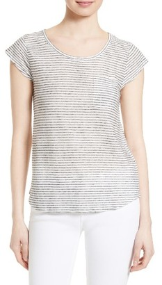 Women's Soft Joie Elira Stripe Linen Blend Tee $98 thestylecure.com