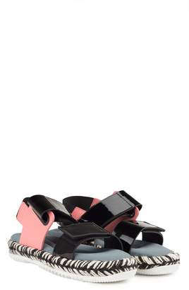 Marni Jute And Patent-leather Wedge-sandals