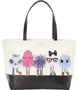 Kate Spade Monster Party Francis Tote Bag Canvas Handbag