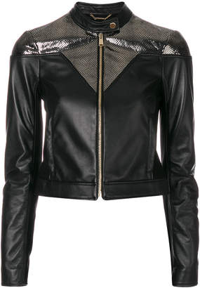 Versace shimmery zipped jacket